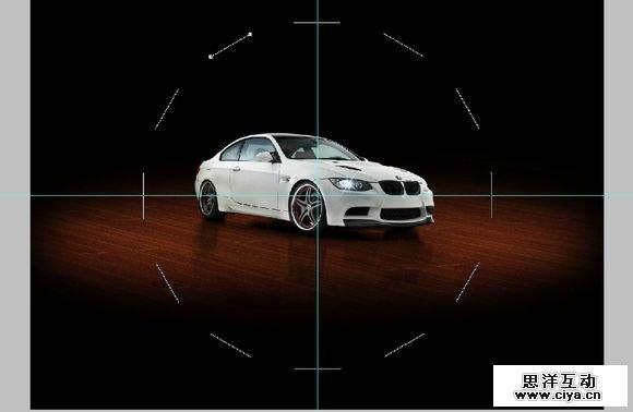 教你打造一张炫酷的全视角汽车海报高清图片